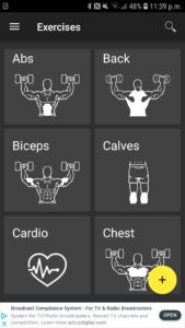 exercises by category