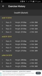 track weight and reps